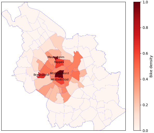 Investigating bike rentals in Cologne - Part 2: Map visualization